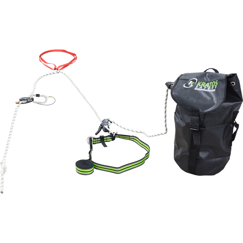 2 in 1 fall arrest system with pre-incorporated evacuation feature