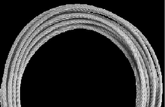 Kratos - Pierwszy metr liny stalowej z kauszą i U-Boltem