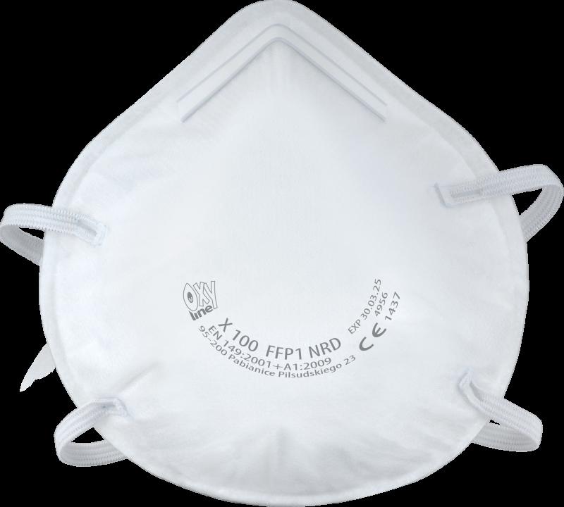 Półmaska filtrująca X 100 FFP1 NR D