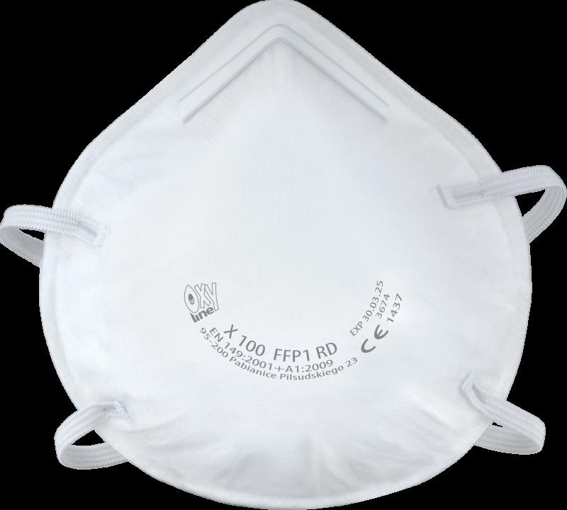 Filtering half mask X 100 FFP1 R D