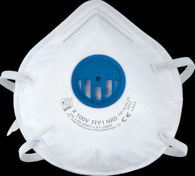 Filtering half mask X 100 V FFP1 NR D