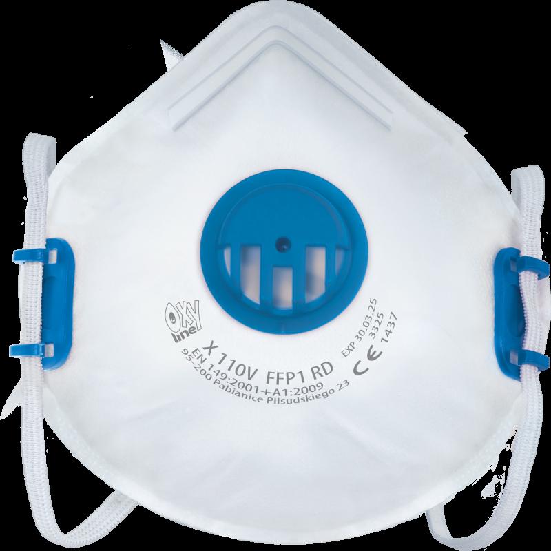 Filtrierende halbmaske X 110 V FFP1 R D