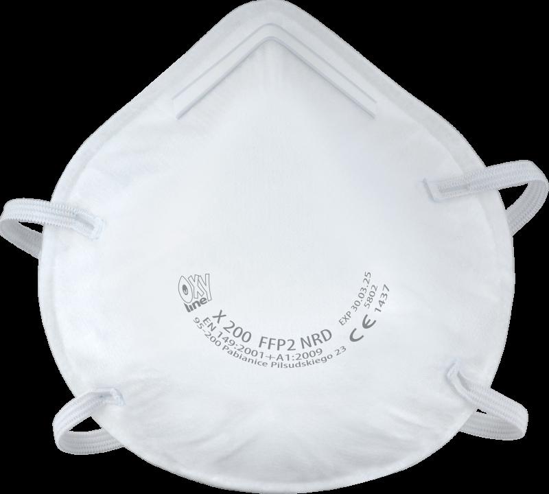 Filtering half mask X 200 FFP2 NR D