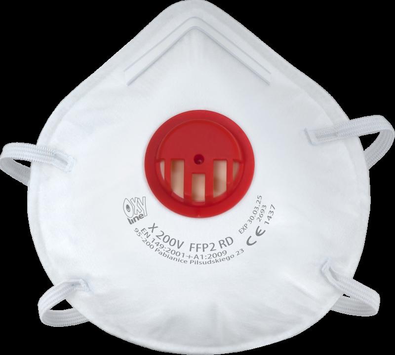 Filtrierende halbmaske X 200 V FFP2 R D