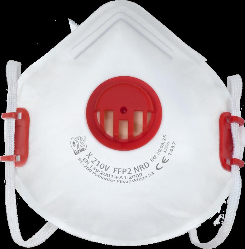 Filtering half mask X 210 V FFP2 NR D