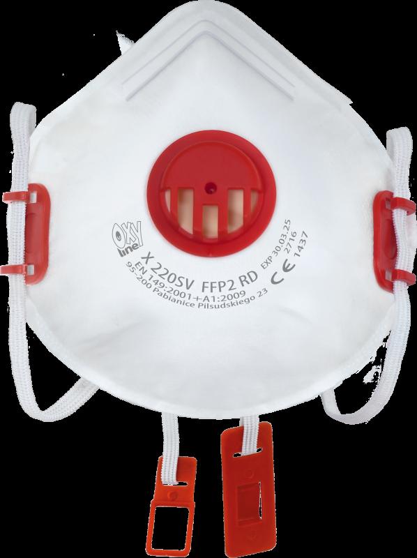 Filtering half mask X 220 SV FFP2 R D