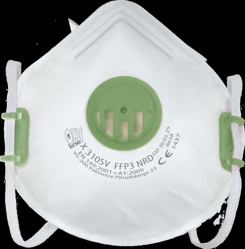 Filtering half mask X 310 SV FFP3 NR D