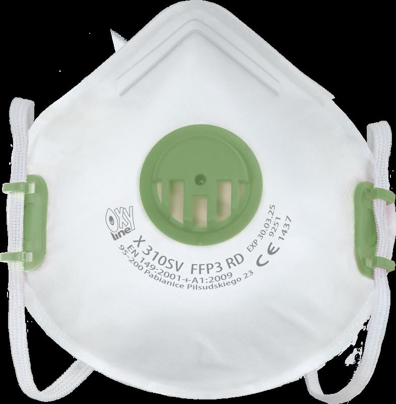 Filtering half mask X 310 SV FFP3 R D