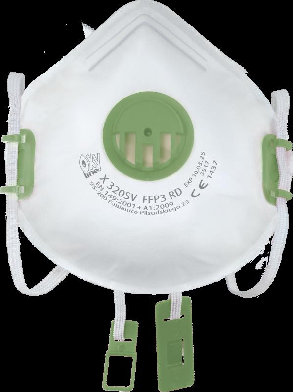 Filtrierende halbmaske  X 320 SV FFP3 R D