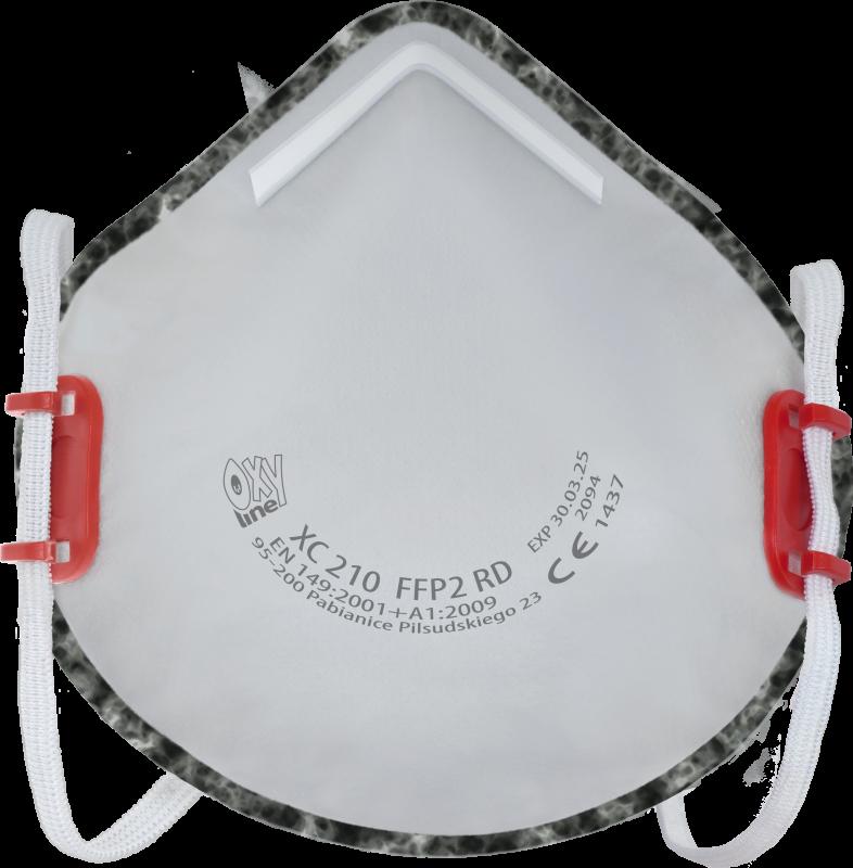 Filter respirator cupshaped XC 210 FFP2 R D
