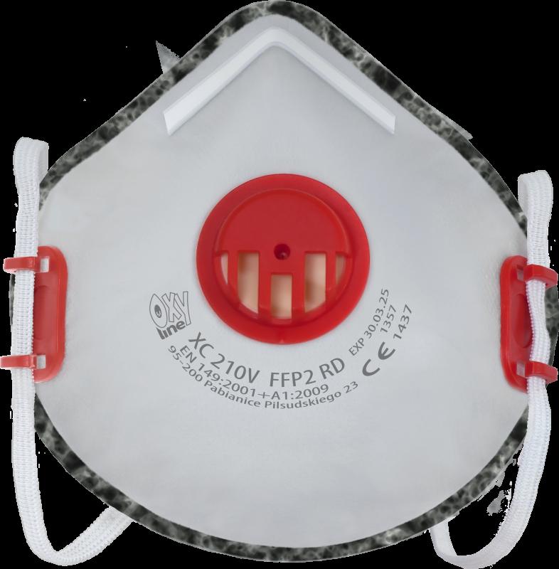 Filter respirator cupshaped XC 210 V FFP2 R D