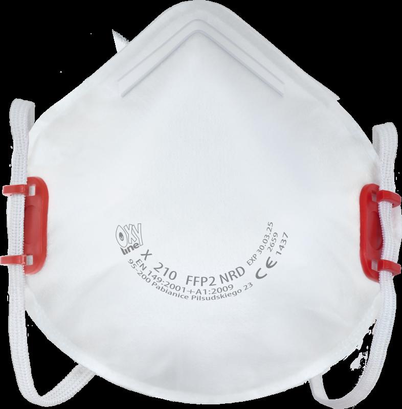 Filtrierende halbmaske X 210 FFP2 NR D