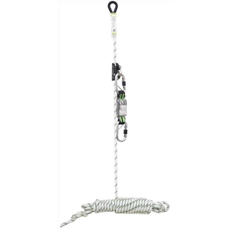 LOREL-A, Sliding fall arrester attached to 10 m anchor line, removable energy absorber