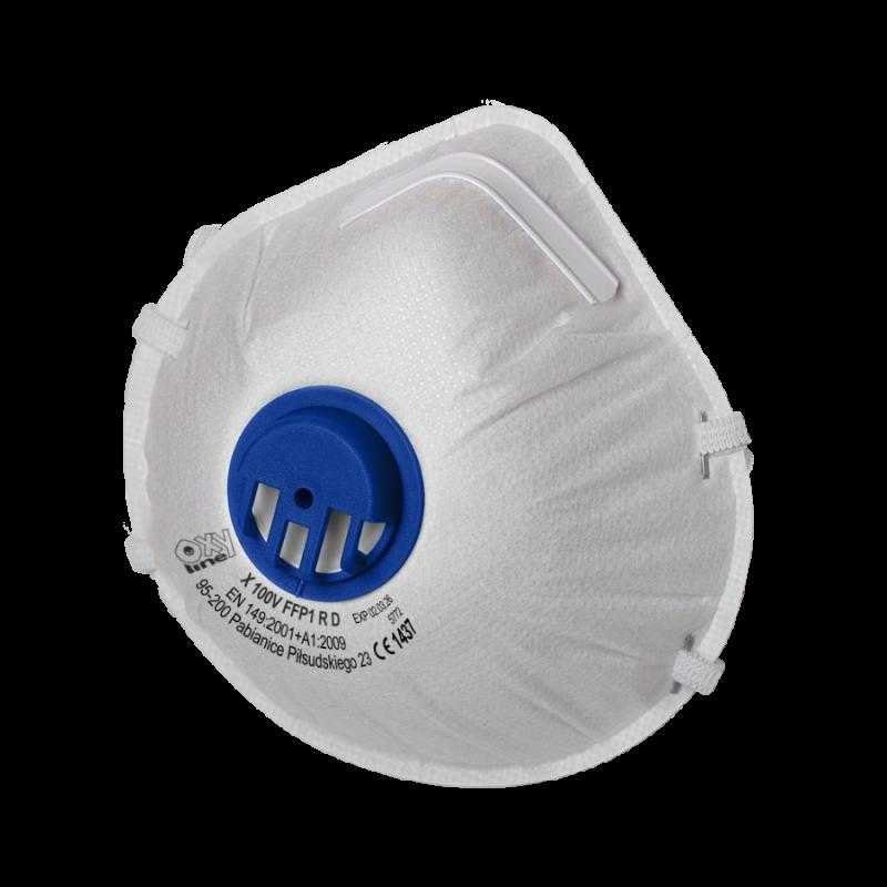 Filtering half mask X 100 V FFP1 R D