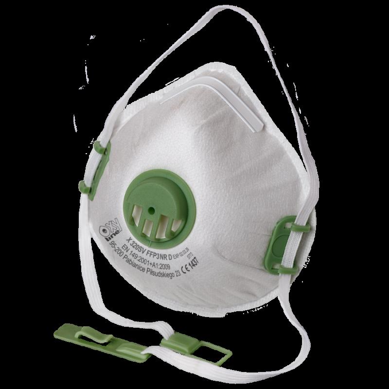 Filtering half mask X 320 SV FFP3 NR D