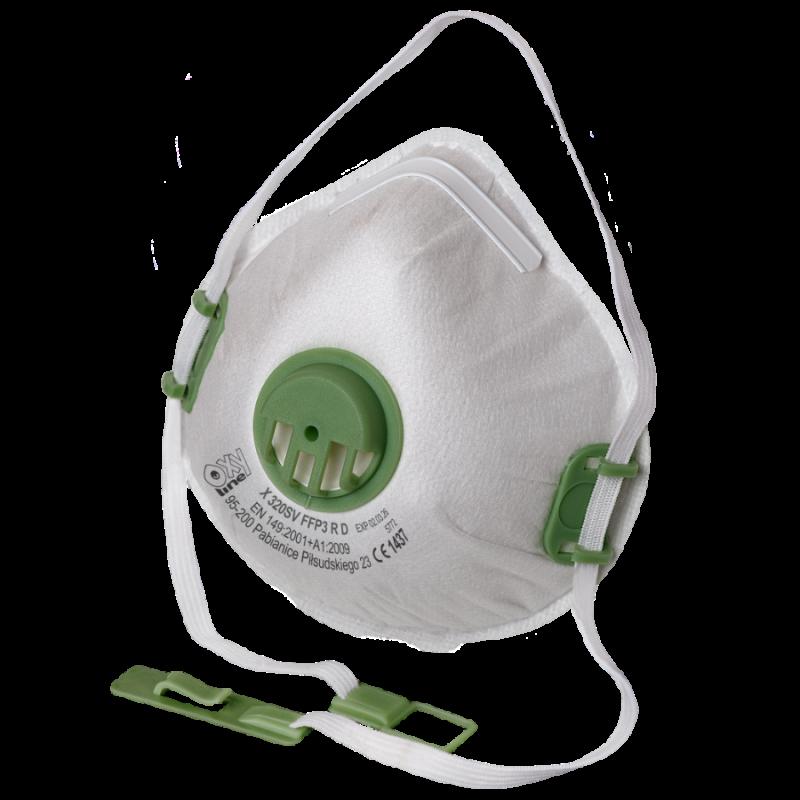 Filtering half mask X 320 SV FFP3 R D