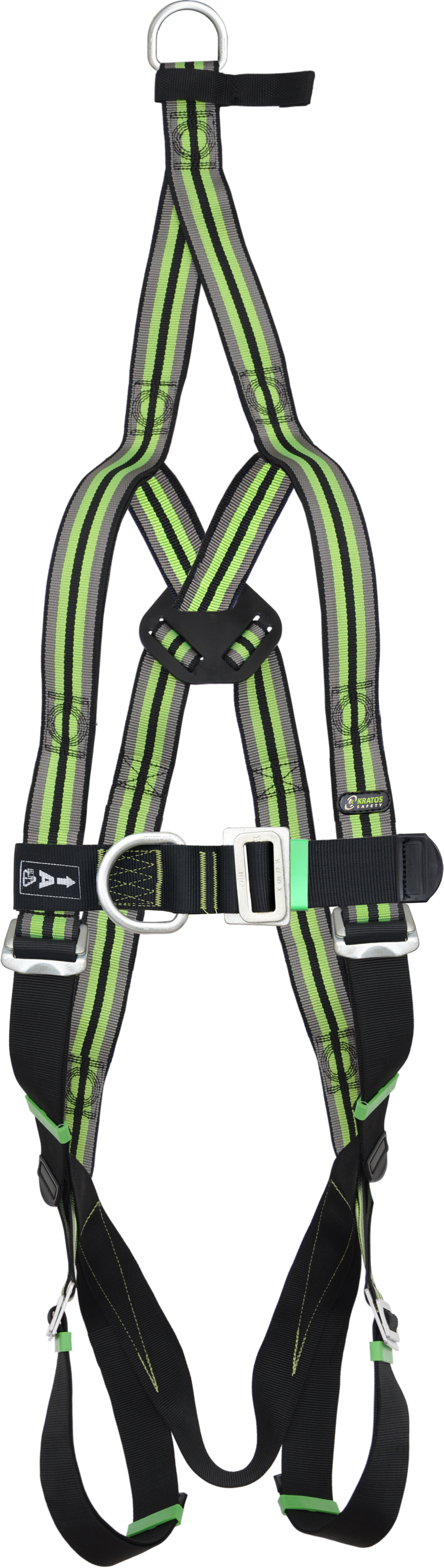 Body harness 2 attachment points with rescue strap